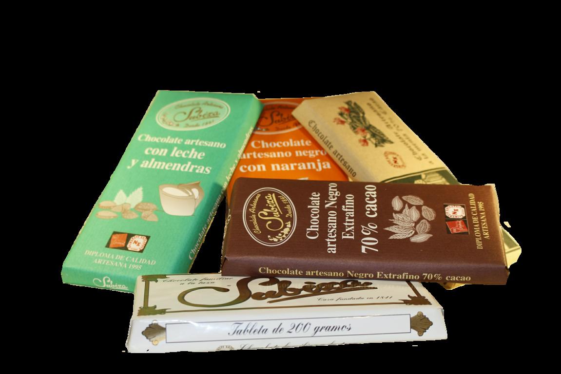 Chocolates artesanos, Subiza.
