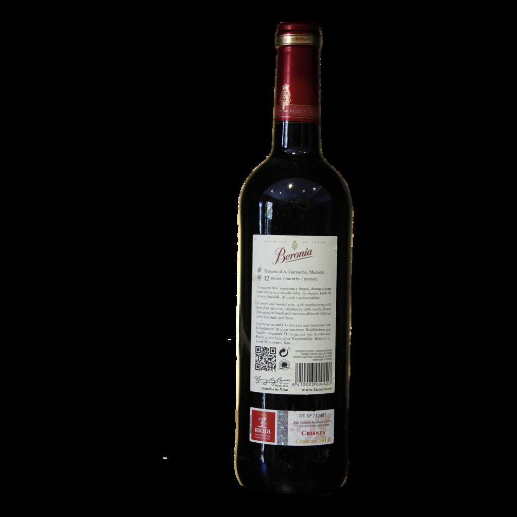 Vino Crianza. Bodegas Beronia, Ollauri (La Rioja).